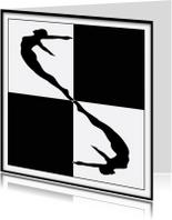 Kunstkaarten - Zwart wit 1 vierkant
