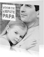 Vaderdag kaarten - zwart wit vaderdagkaart