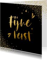 Zakelijke kerstkaarten - Zwarte zakelijke kerstkaart met goudlook letters