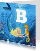 Geslaagd kaarten - Zwemdiploma A B C zeemeermin zee