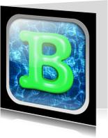 Geslaagd kaarten - Zwemdiploma B - als app-kaartje