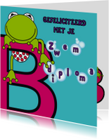 Geslaagd kaarten - Zwemdiploma B meisjes