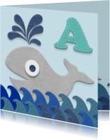 Geslaagd kaarten - Zwemdiploma walvis A
