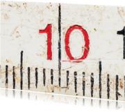 Verjaardagskaarten - 10 op oude witte duimstok