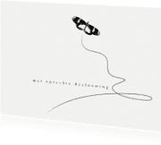 Condoleancekaarten - 12035 Condoleancekaart Vlinder