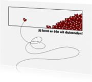 Liefde kaarten - 13087 Een uit duizenden