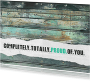 Geslaagd kaarten - 13123 Geslaagd kaart Proud of you