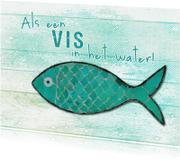 Felicitatiekaarten - 13126 Als een vis in het water