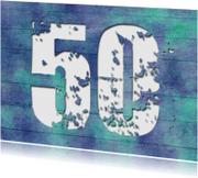 Uitnodigingen - 14212 Uitnodiging 50 jaar