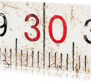 Verjaardagskaarten - 30 op oude witte duimstok