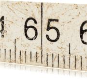 Verjaardagskaarten - 65 jaar op witte duimstok