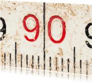 Verjaardagskaarten - 90 op oude witte duimstok