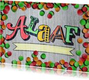 Carnavalskaarten - Alaaf carnaval hout confetti