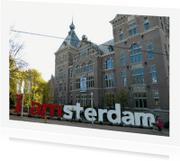 Ansichtkaarten - ansicht Amsterdam letters