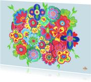 Ansichtkaarten - Ansichtkaart flowers PA