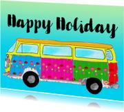 Vakantiekaarten - Ansichtkaart happy holiday