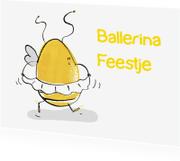Kinderkaarten - Ballerina feestje