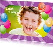 Verjaardagskaarten - Ballonkader met eigen foto