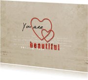 Liefde kaarten - Beautiful Hartjes - JD