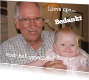 Bedankkaartjes - Bedankkaart Oppassen Eigen Foto