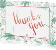 Trouwkaarten - Bedankkaart trouwen botanical