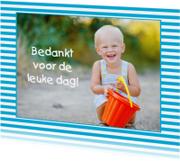 Bedankkaartjes - Bedankkaartje Eigen Foto Strepen