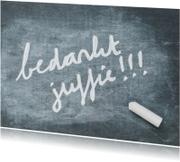 Bedankkaartjes - Bedankt juffie - op schoolbord