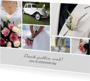 Trouwkaarten - Bedankt trouwdag collage - DH