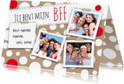 Vriendschap kaarten - Best Friends BFF-isf