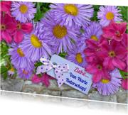 Beterschapskaarten - Beterschap met lila bloemen