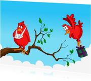 Beterschapskaarten - Beterschap vogeltje-JB