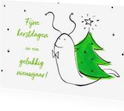 Kerstkaarten - Boom optuigen