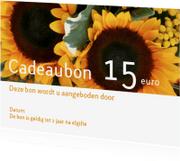 Kaarten mailing - Cadeaubon bloemen liggend