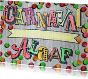 Carnavalskaarten - carnaval alaaf hout