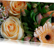 Bloemenkaarten - Champagne bloemen