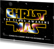 Kerstkaarten - Christmas The Claus Awakens