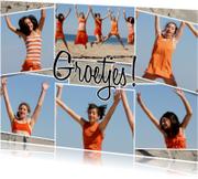 Vakantiekaarten - Collage Groetjes! - BK