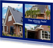 Verhuiskaarten - Collage verhuizen 3 foto's - BK