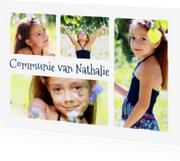 Communiekaarten - Communie collage 4 foto's - BK