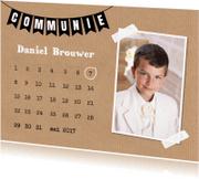 Communiekaarten - Communiekaart eigen foto kalender kraft