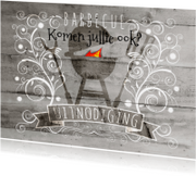 Uitnodigingen - Decoratief Hout BBQ - BK