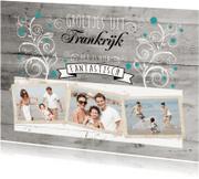 Vakantiekaarten - Decoratief Hout Groeten uit - BK