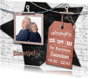 Uitnodigingen - Diner foto en label