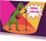 Liefde kaarten - Dino Rocker Love