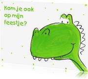 Uitnodigingen - Dinosaurus Verjaardagsfeestje