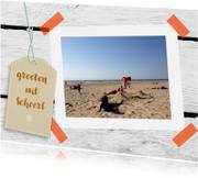 Vakantiekaarten - Eigen tekst en foto label