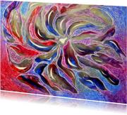 Kunstkaarten - 'Fantasie in metallic'- ansicht