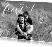 Jubileumkaarten - Feest eigen foto hart getal