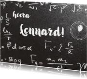 Verjaardagskaarten - Felicitatie eigen txt tussen wiskundeformules