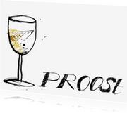 Felicitatiekaarten - Felicitatie kaart Proost